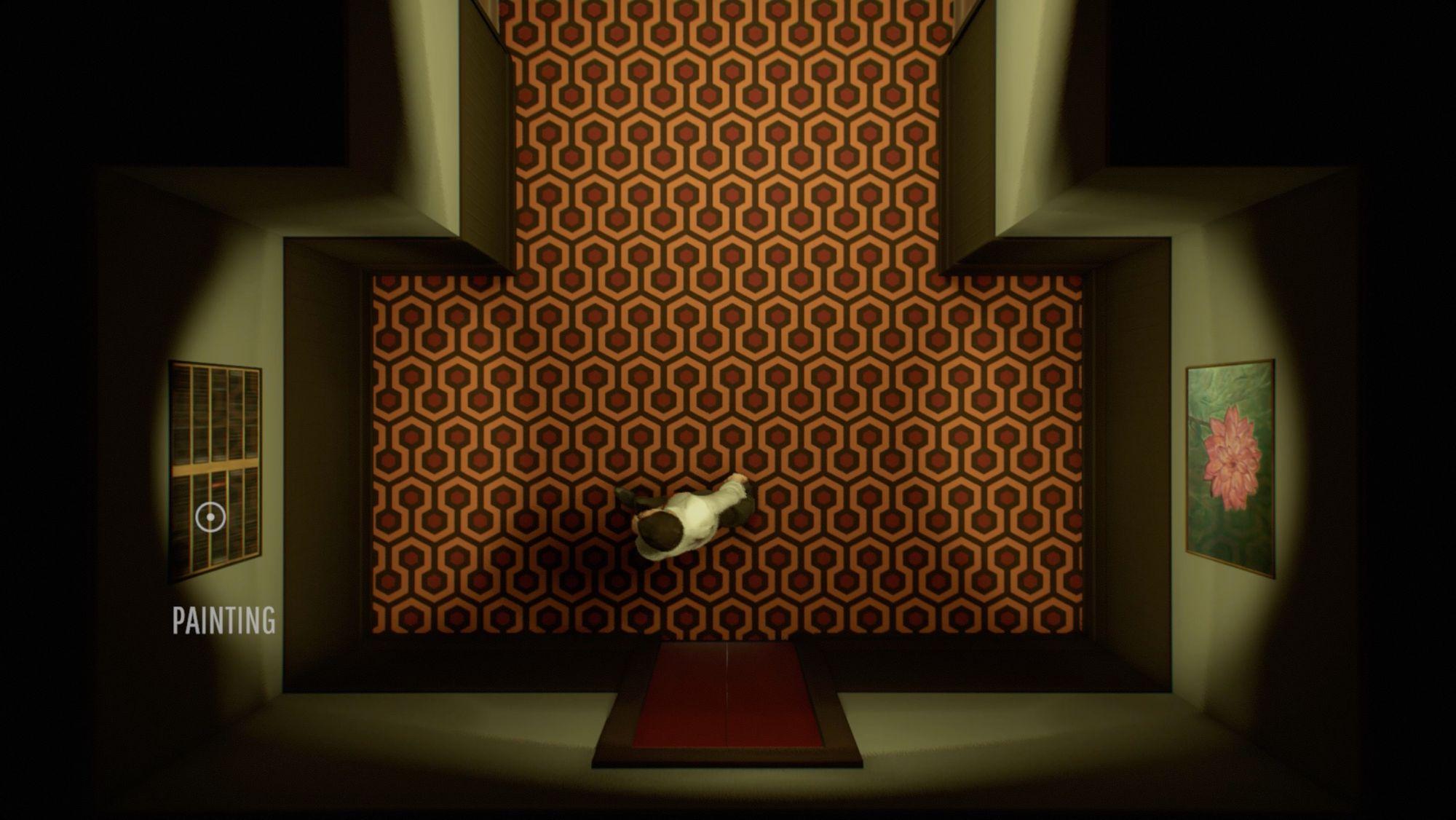Hall de Twelve minutes, referência ao O Iluminado